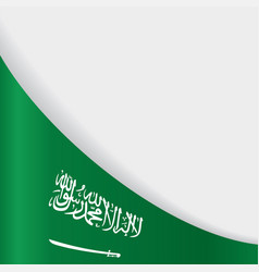 saudi arabian flag background vector image