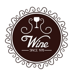 Seal of quality wine isolated icon design vector