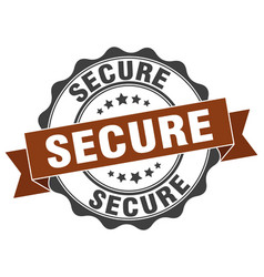 Secure stamp sign seal vector