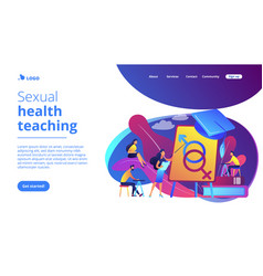 sexual education concept landing page vector image