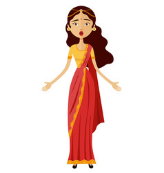 Shocked young indian businesswoman iondia vector