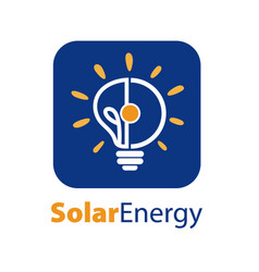 solar energy logo icon vector image
