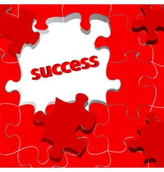 success in puzzle vector image