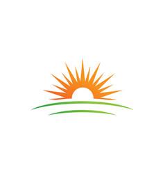 sun farm logo icon design vector image
