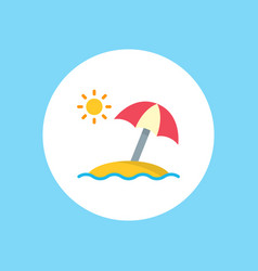 sun umbrella icon sign symbol vector image