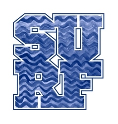 Surfing emblem T-shirt graphic print vector