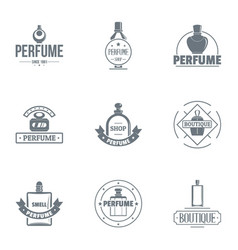 sweetness logo set simple style vector image