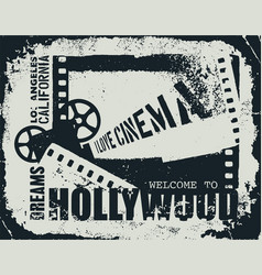 template grunge cinema poster vector image
