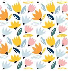 trendy seamless floral pattern perfect vector image