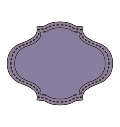 Vintage frame icon with oval shape vector