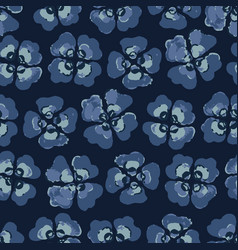 viola pansy floral seamless pattern vector image