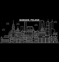 Warsaw silhouette skyline poland - warsaw vector