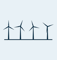 wind turbine icon wind power energy vector image