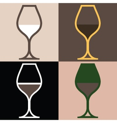 WineGlassVariations vector image