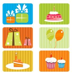 birthday template vector image
