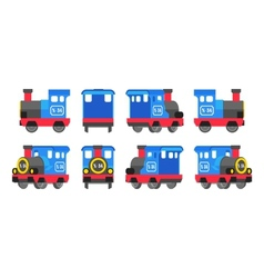 Light blue toy locomotive vector image