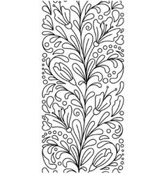 Seamless borders in doodle style Floral vector image vector image