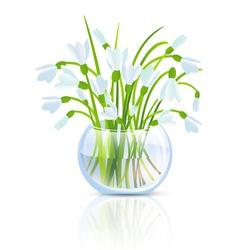 Snowdrop Flower vector image vector image