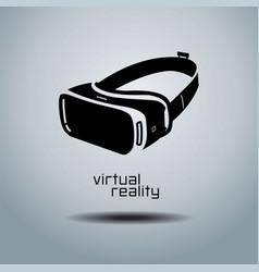 virtual reality headset icon flat design icon vector image