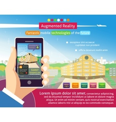 Augmented reality poster vector image vector image