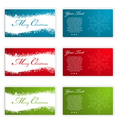 collect christmas cards with snowflakes and wave p vector image vector image