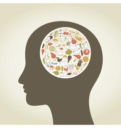 Head food4 vector image