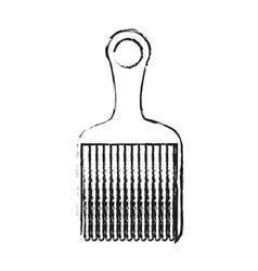 Isolated comb design vector image vector image
