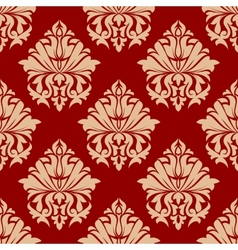 Retro damask style arabesque pattern vector image vector image