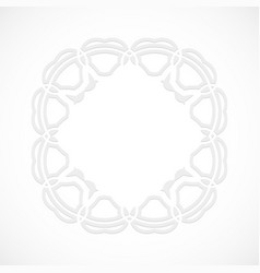 round modern white pattern simulated by a laser vector image vector image