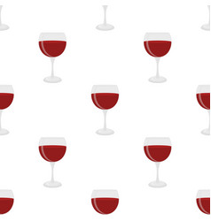 Seamless pattern of glass for wine sangria vector