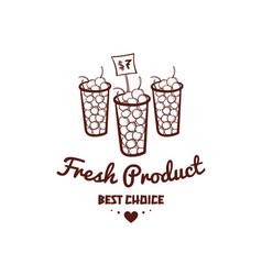 fresh product monochrome emblem vector image