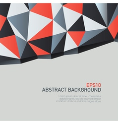 triangles background with copyspace vector image vector image