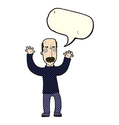 cartoon angry dad with speech bubble vector image