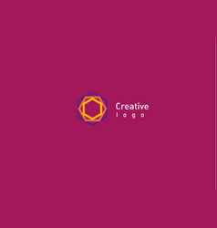 creative abstract logo a geometric pattern vector image vector image