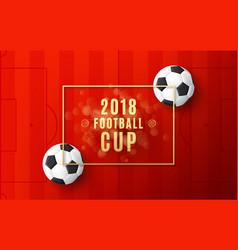 football world championship 2018 banner vector image