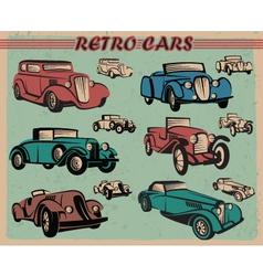 set of retro cars vector image