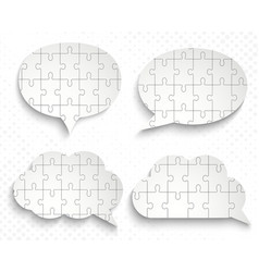 abstract speech bubbles with pieces of paper vector image