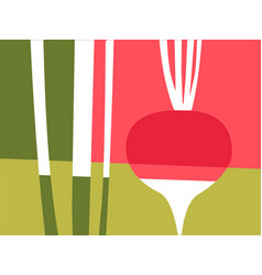 Abstract vegetable design of radish vector