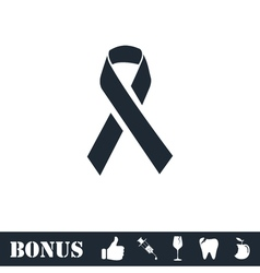 AIDS icon flat vector