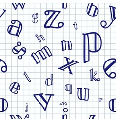 Alphabet Seamless Background vector image