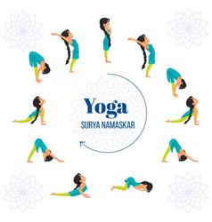 Banner design of surya namaskar yoga vector