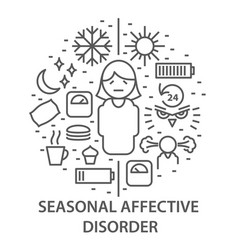 Banners for seasonal affective disorder vector