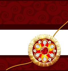 beautiful rakhi background vector image