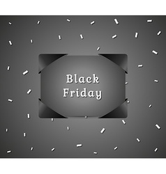 Black friday abstract present vector