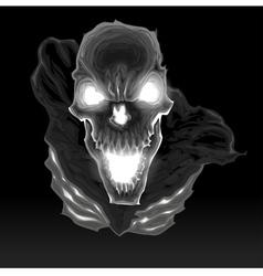 Black skeleton in the dark vector