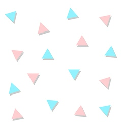 Blue Pink Triangle Abstract White Background vector image
