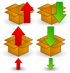 box clip-art with arrows download upload or vector image