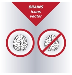 Brain icons On the white background vector image