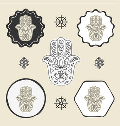 Buddhas hand buddhism icon flat web sign symbol vector