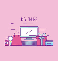 buy online computer price tag gift bank card vector image